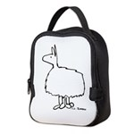 2-llama only black Neoprene Lunch Bag