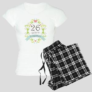 26th Anniversary flowers an Women's Light Pajamas