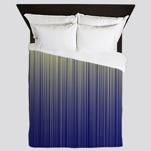 Cream and Navy Unite  Queen Duvet