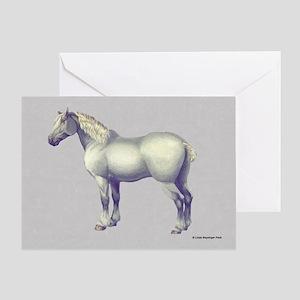 Percheron Horse Greeting Cards