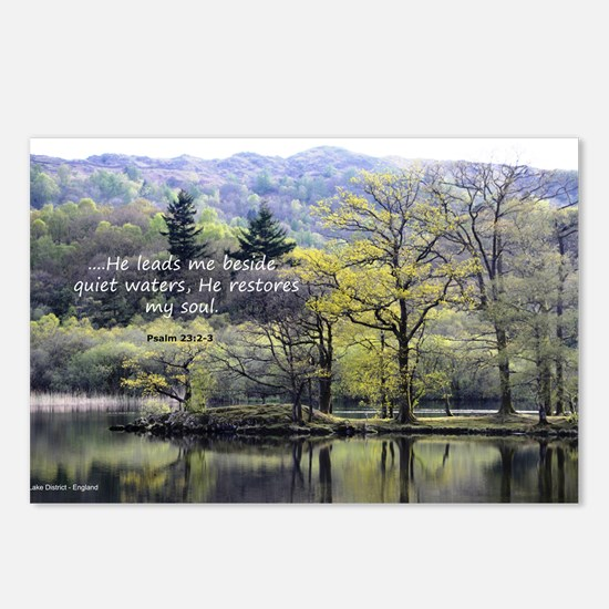 Psalm 23:2 Postcards (package Of 8)