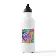 Tye Dye Cross with Heart Water Bottle