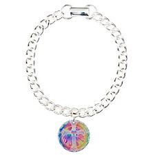 Tye Dye Cross with Heart Bracelet