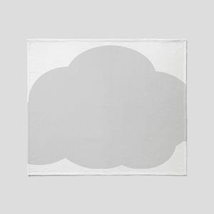 Grey Cloud Throw Blanket