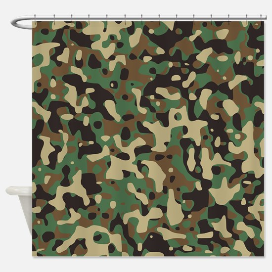 Woodland Camouflage Shower Curtain