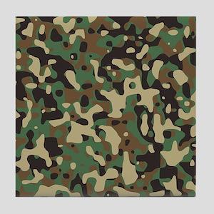 Woodland Camouflage Tile Coaster