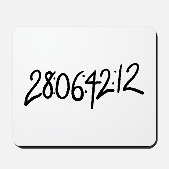 28:06:41:12 donnie darko numbers Mousepad