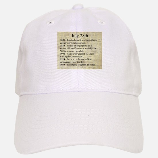 July 28th Baseball Baseball Baseball Cap
