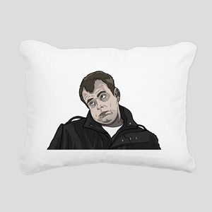 Man Gurning Rectangular Canvas Pillow