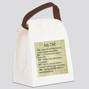 July 23rd Canvas Lunch Bag
