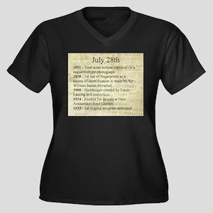 July 28th Women's Plus Size V-Neck Dark T-Shirt