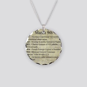 March 9th Necklace Circle Charm