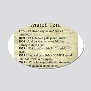 March 12th 20x12 Oval Wall Decal