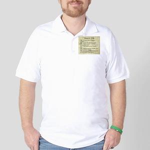 March 12th Golf Shirt