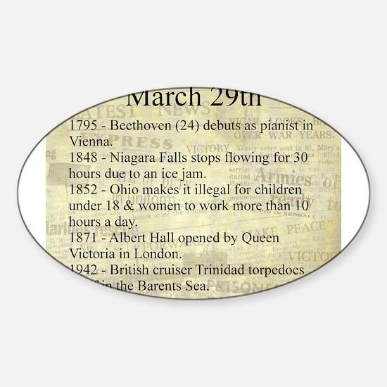 March 29th Sticker (Oval)
