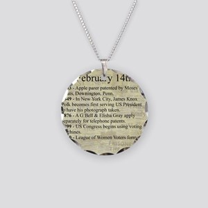 February 14th Necklace Circle Charm