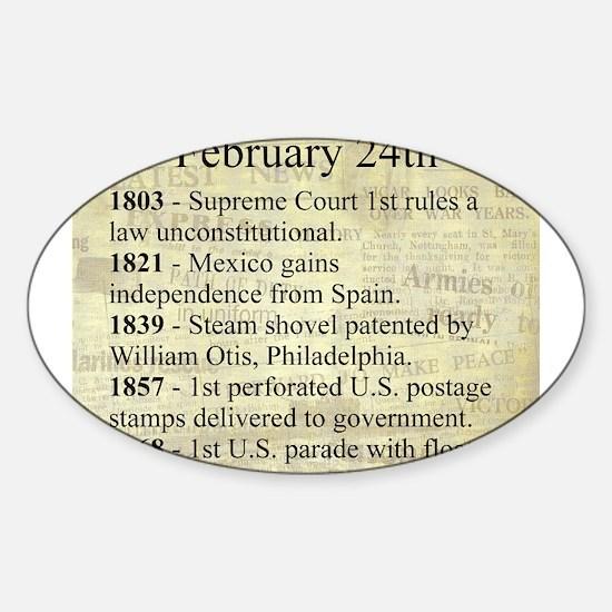 February 24th Sticker (Oval)