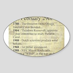 February 29th Sticker (Oval)