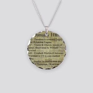 January 11th Necklace Circle Charm