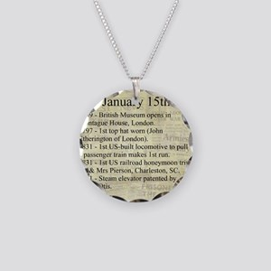 January 15th Necklace Circle Charm