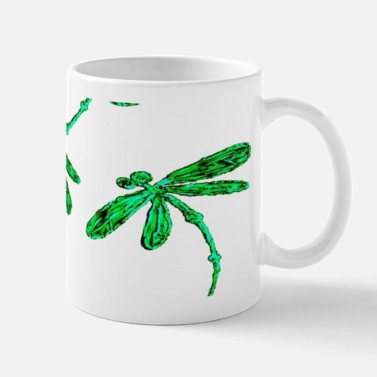 Dragonflies Neon Green Mugs