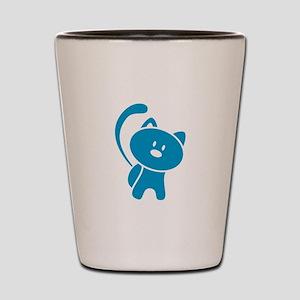 Blue Cat Shot Glass