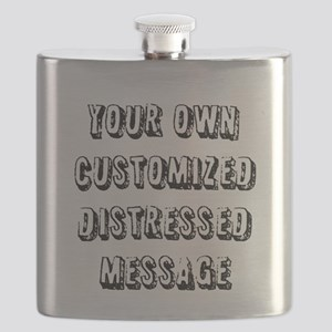 Custom Distressed Message Flask