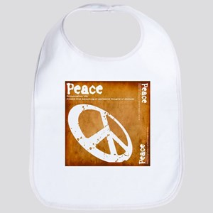 Orange Peace Bib