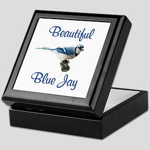 Beautiful Blue Jay Keepsake Box
