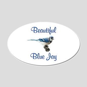 Beautiful Blue Jay 20x12 Oval Wall Decal