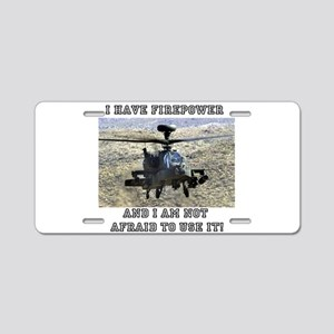 Airpower! Aluminum License Plate