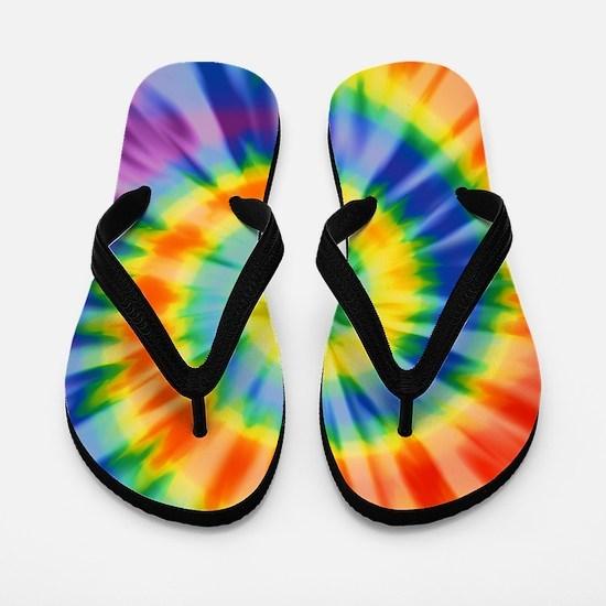 Printed Tie Dye Pattern Flip Flops
