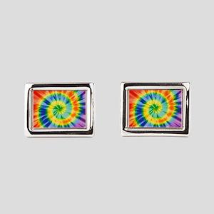 Printed Tie Dye Pattern Cufflinks