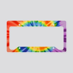 Printed Tie Dye Pattern License Plate Holder
