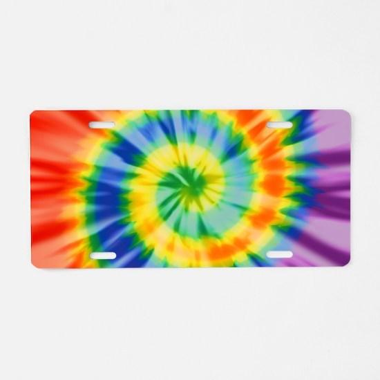 Printed Tie Dye Pattern Aluminum License Plate