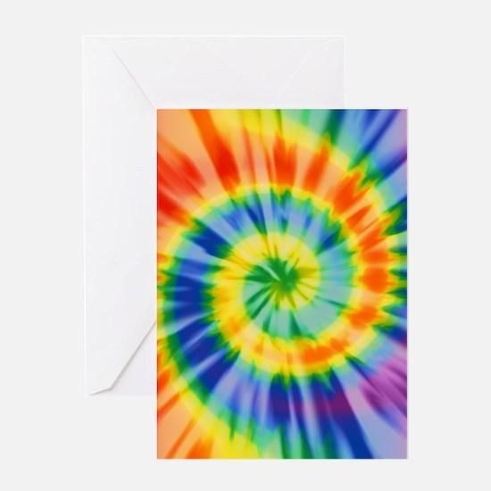 Printed Tie Dye Pattern Greeting Cards
