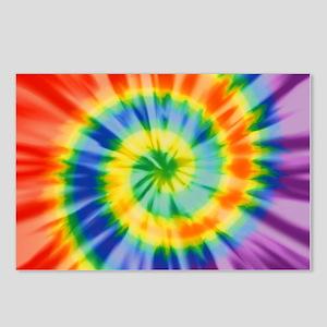 Printed Tie Dye Pattern Postcards (Package of 8)