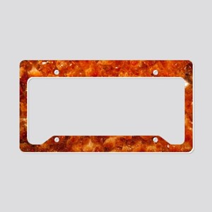 Orange Citrine  License Plate Holder