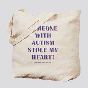 SOMEONE WITH AUTISM... Tote Bag