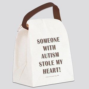 SOMEONE WITH AUTISM... Canvas Lunch Bag