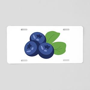 Blueberry Aluminum License Plate