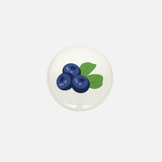 Blueberry Mini Button
