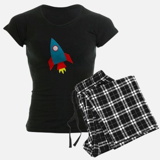 Cartoon Rocket Ship Pajamas