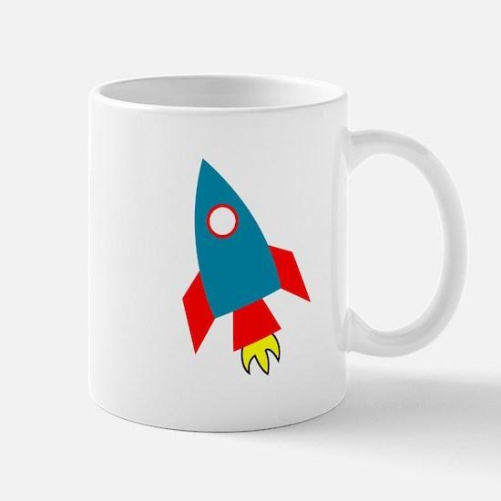 Cartoon Rocket Ship Mugs