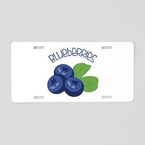 BLUEBERRIES Aluminum License Plate