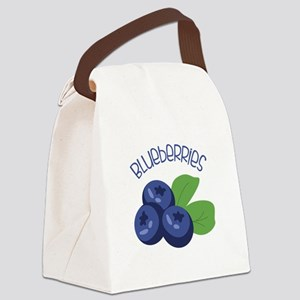 BLUEBERRIES Canvas Lunch Bag