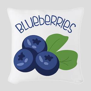 BLUEBERRIES Woven Throw Pillow