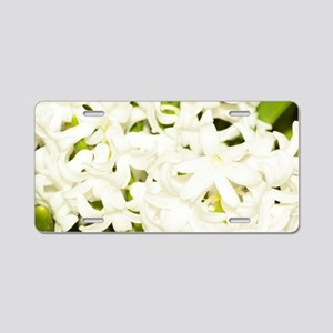 White Hyacinth (Hyacinthus  Aluminum License Plate