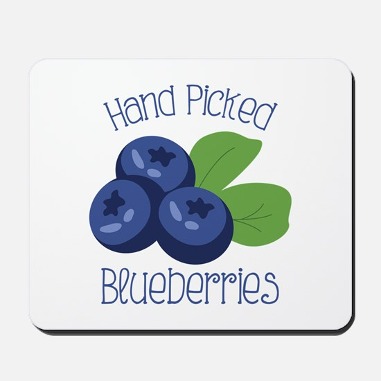Hand Picked Blueberries Mousepad