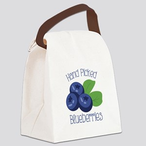 Hand Picked Blueberries Canvas Lunch Bag